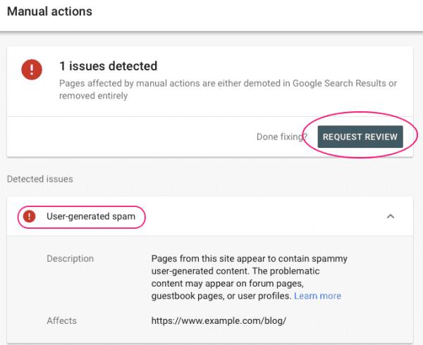 Ejemplo Google Acción Manual